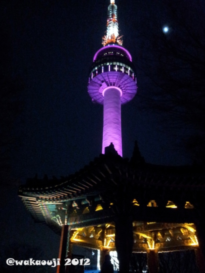 At the foot of N Seoul Tower